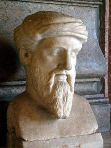 Pythagore, mathématicien et philosophe de l'antiquité