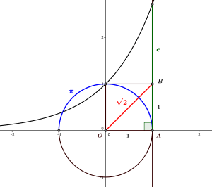 Quelques nombres irrationels et leur représentation géométrique