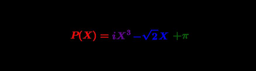 Polynômes à une indéterminée : la représentation combinatoire des équations