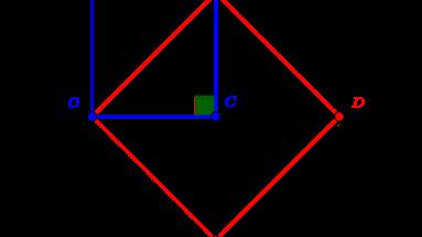 Doublement du carré unité par le théorème de Pythagore